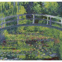 Kit point de croix - DMC - Le bassin aux nymphéas d'après Monet