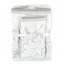 Serviette de toilette à broder  - DMC - Lot de 2 serviettes éponge Coton/Lin