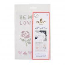 Modèle pour customisation - DMC - Magic paper Amour