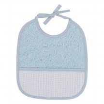 Bavoir à broder - DMC - Bavoir 6 mois - éponge bleu