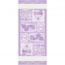 Kit de vis à vis à broder - DMC - Cupcakes - violet