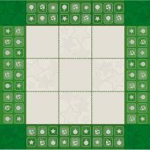 Kit de nappe à broder - DMC - Père Noël vert
