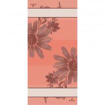 Kit de vis à vis à broder - DMC - Flowers - Corail
