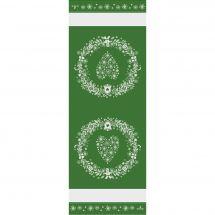 Kit de vis à vis à broder - DMC - Coeur - Vert
