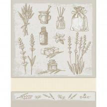 Torchon à broder - DMC - Herbes Aromatiques - Ecru