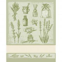 Torchon à broder - DMC - Herbes Aromatiques - Vert