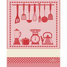 Torchon à broder - DMC - Cuisine - Rouge