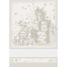 Torchon à broder - DMC - Cadeaux de Noël - Ecru