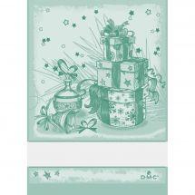 Torchon à broder - DMC - Cadeaux de Noël - Vert