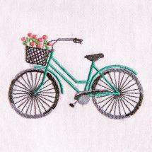 Kit au point de broderie  - DMC - Bicyclette