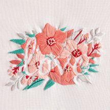 Kit au point de broderie  - DMC - Fleurs de l'amour