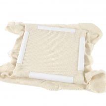 Métier à broder - DMC - Métier à clips / blanc - 43 x 43 cm