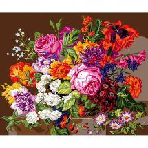 Canevas Pénélope  - DMC - Le bouquet de fleurs
