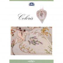 Livre diagramme - DMC - Coeurs à broder en fil coloris