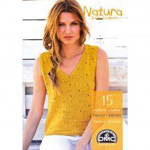 Livre - DMC - 15 créations tricot Natura Just Cotton