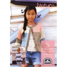 Livre - DMC - 8 créations tricot Natura Just Cotton