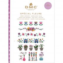 Livre diagramme - DMC - Idées à broder spécial fleurs
