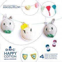 Livre - DMC - 4 idées à crocheter - Happy Cotton 4