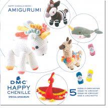 Livre - DMC - 5 idées à crocheter Happy Chenille 1