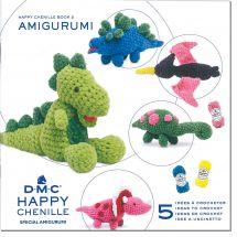 Livre - DMC - 5 idées à crocheter Happy Chenille 2