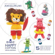 Livre - DMC - 5 idées à crocheter Happy Cotton 10
