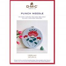 Fiche créative - DMC - Fleurs sur tambour - Punch Needle