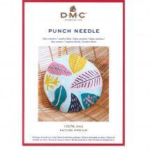 Fiche créative - DMC - Coussin rond - Punch Needle