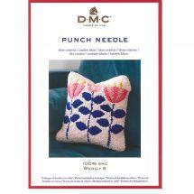 Fiche créative - DMC - Coussin carré - Punch Needle