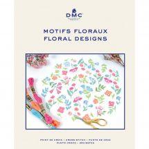Livre diagramme - DMC - Idées à broder motifs floraux