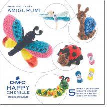 Livre - DMC - 5 idées à crocheter Happy Chenille 5