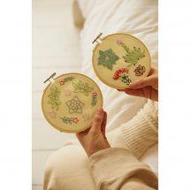 Kit de broderie sur tambour - DMC - Jardin miniature