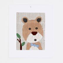 Kit de canevas pour enfant - DMC - Petit ours