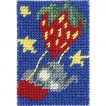 Kit de canevas pour enfant - DMC - La montgolfière fraise