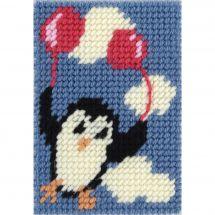 Kit de canevas pour enfant - DMC - Pingouin volant