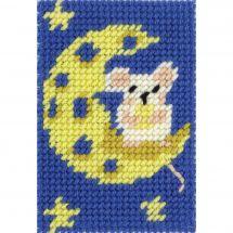 Kit de canevas pour enfant - DMC - Une lune de fromage