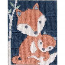 Kit de canevas pour enfant - DMC - Gaspar le renard