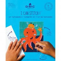 Kit de canevas pour enfant - DMC - Amélia la pieuvre