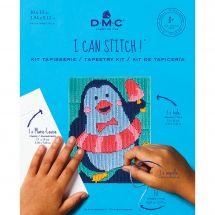 Kit de canevas pour enfant - DMC - Merlin le pingouin
