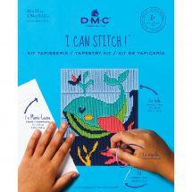 Kit de canevas pour enfant - DMC - Mylène la baleine