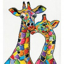 Kit point de croix - Design works - Girafes