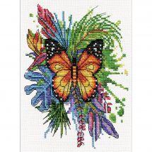Kit point de croix - Design works - Papillon
