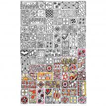 Toile pré-dessinée - Zenbroidery - Cubiste