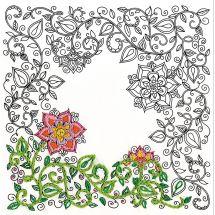 Toile pré-dessinée - Zenbroidery - Jardin