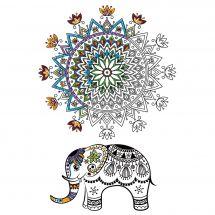 Toile pré-dessinée - Zenbroidery - Mandala éléphant