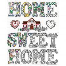 Toile pré-dessinée - Zenbroidery - Home sweet home