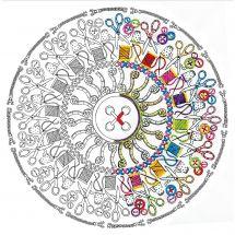 Toile pré-dessinée - Zenbroidery - Mandala couture