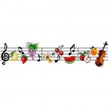 Kit point de croix - Luc Créations - Les notes de fruits