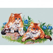 Canevas Pénélope  - Gobelin. L - Duo de chats