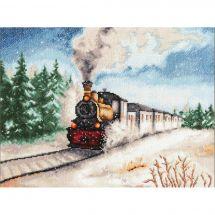 Kit point de croix - Toison d'or - L'Express d'hiver