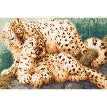 Kit point de croix - Toison d'or - Famille léopard